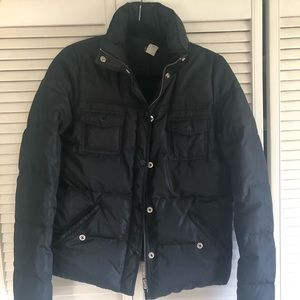 Women's J Crew Puffer Jacket Small Black